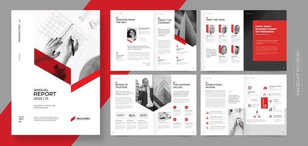 Brochure aziendale professionale o modello di opuscolo Vettore Premium