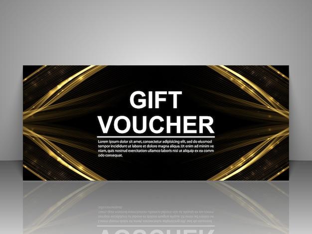 Modello di carta del buono regalo promozionale Vettore Premium