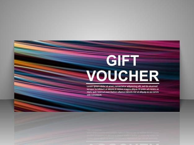 Modello di buono regalo promozionale Vettore Premium