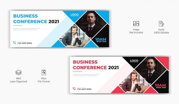 Modello di banner sito web promozionale aziendale social media post posta copertina facebook linea temporale banner Vettore Premium