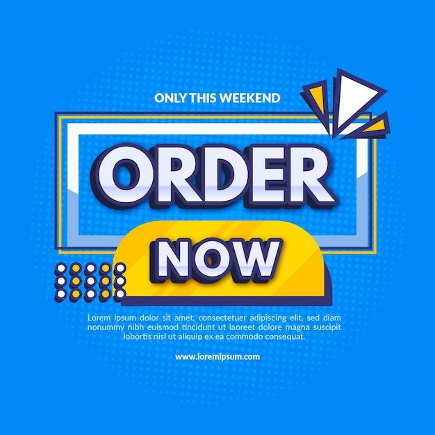 Ordine promozionale ora banner Vettore Premium