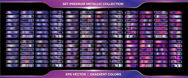 Purple violet raccolta di sfumature Vettore Premium