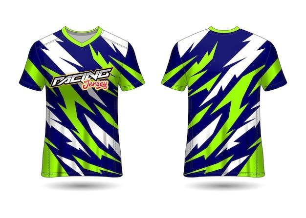 Disegno del modello di maglia sportiva da corsa Vettore Premium