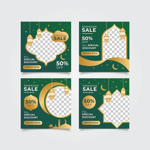 Post vendita instagram ramadan Vettore Premium