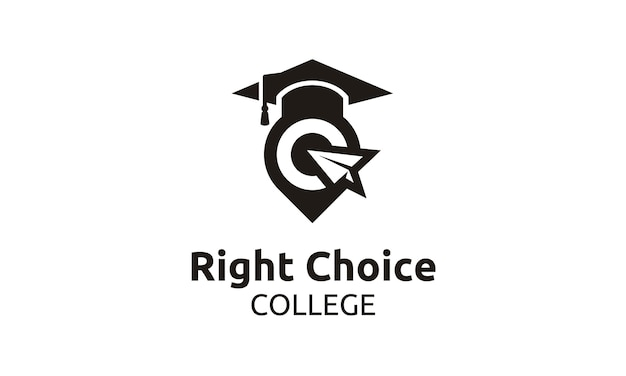 Raggiungi il logo best for school / university / college / graduate Vettore Premium
