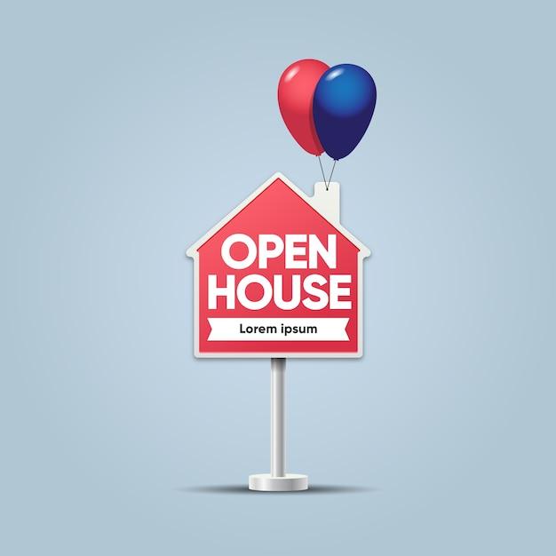 Segno di casa immobiliare Vettore Premium