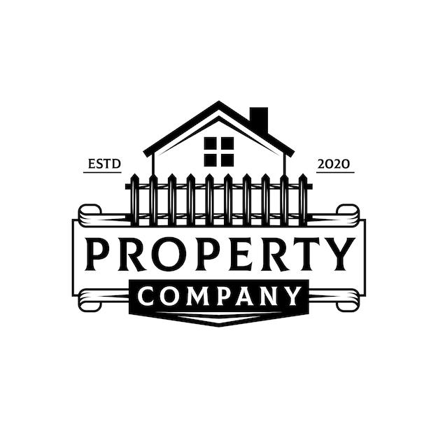 Logo di lusso immobiliare Vettore Premium