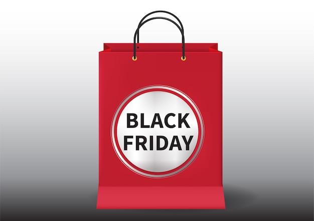 Realistico concetto di banner venerdì nero Vettore Premium