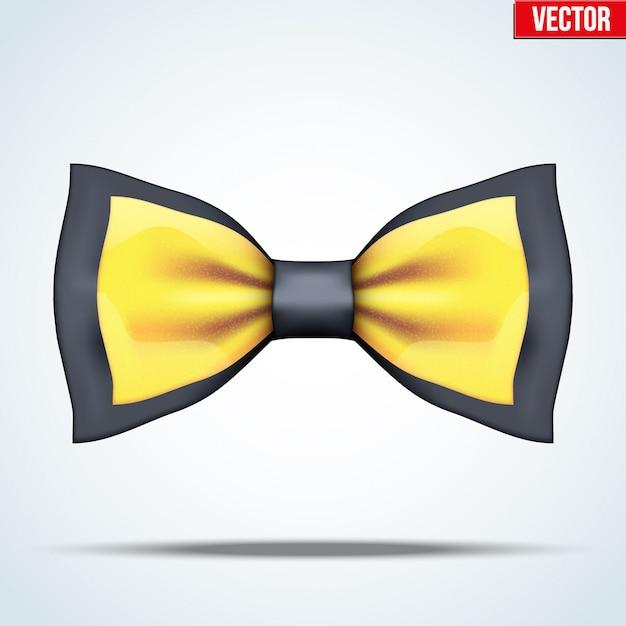 Papillon realistico nero e oro Vettore Premium