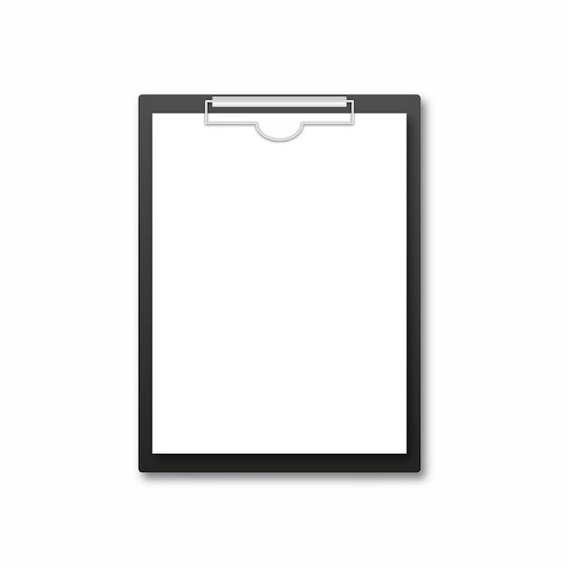 Appunti realistici con foglio bianco Vettore Premium
