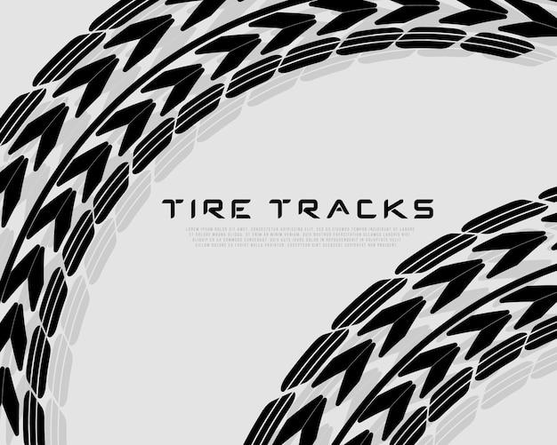 Tracce di composizione realistiche. motocross, pista ciclabile, pista automobilistica o corse automobilistiche Vettore Premium