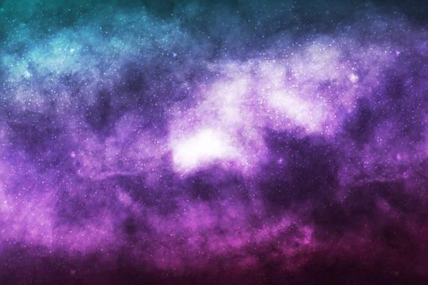 Sfondo galassia cosmica realistico. concetto di spazio, nebulosa e cosmo. Vettore Premium