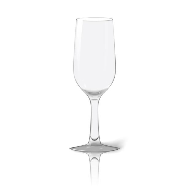 Illustrazione realistica di vetro Vettore Premium