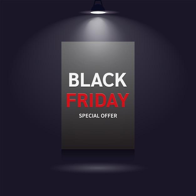Concetto di banner venerdì nero moderno realistico Vettore Premium
