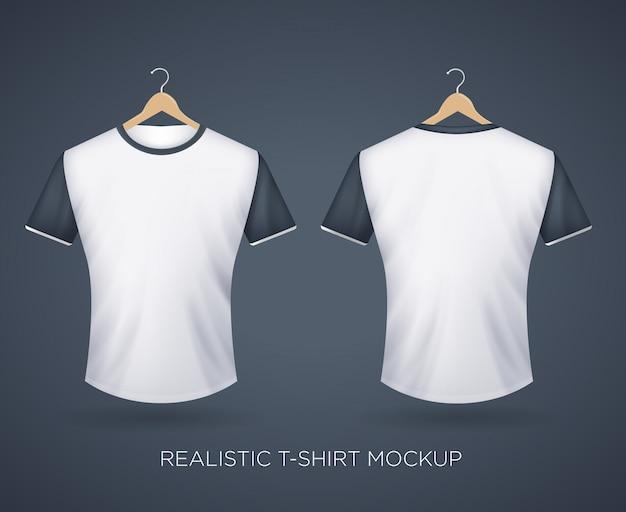 Maglietta realistica Vettore Premium