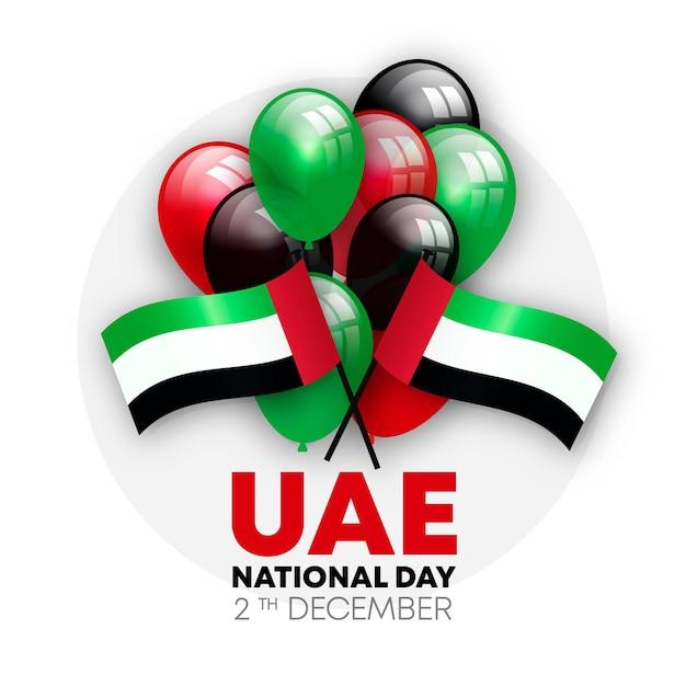 Celebrazione realistica della giornata nazionale degli emirati arabi uniti Vettore Premium