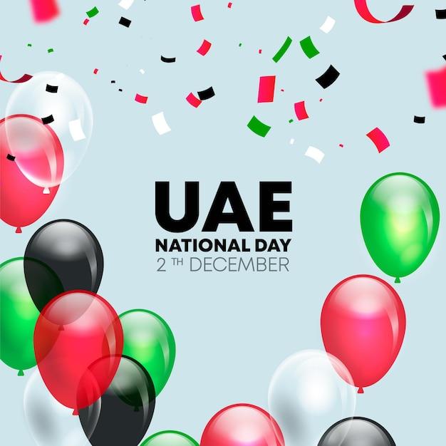 Evento realistico della giornata nazionale degli emirati arabi uniti Vettore Premium