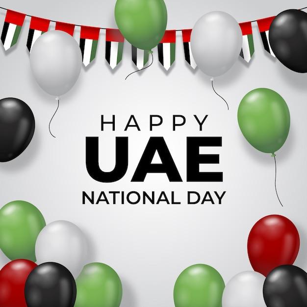 Giornata nazionale realistica degli emirati arabi uniti Vettore Premium