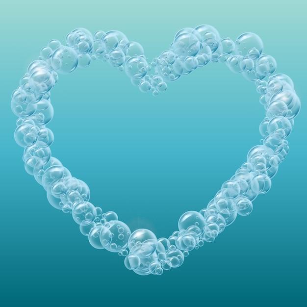 Sfondo realistico bolle d'acqua Vettore Premium