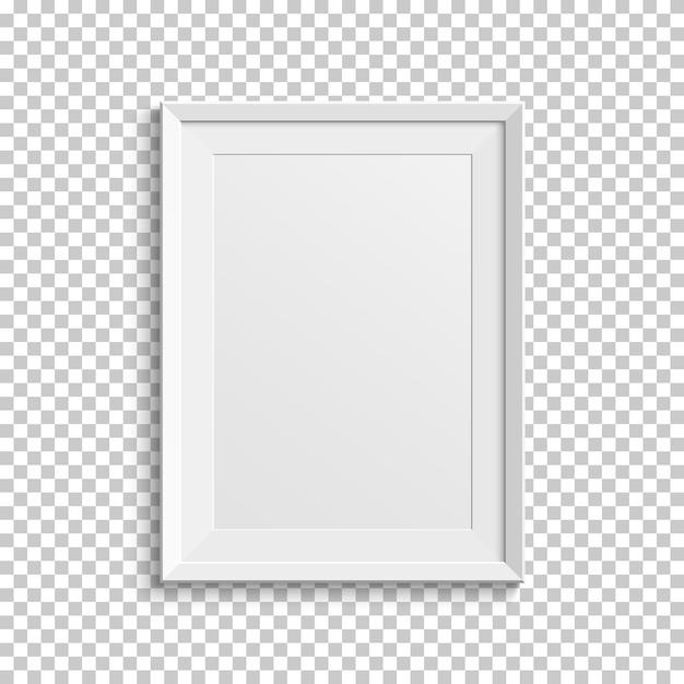 Cornice bianca realistica isolata su sfondo trasparente. Vettore Premium