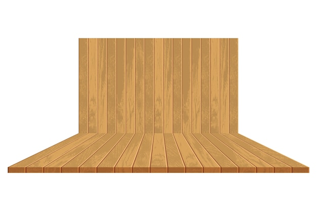 Sfondo in legno realistico Vettore Premium