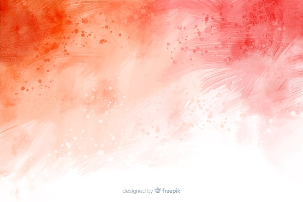 Fondo dipinto a mano astratto rosso Vettore Premium