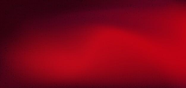 Microchip rosso del circuito sul fondo di tecnologia, digital alta tecnologia e progettazione di massima di sicurezza, spazio libero per testo messo, illustrazione. Vettore Premium