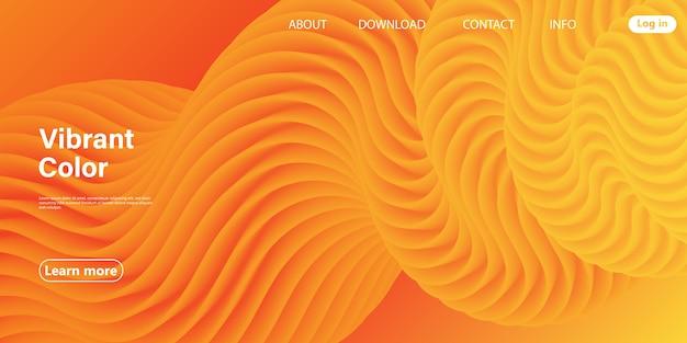 Design rosso. poster 3d. flusso astratto. colori rossi, arancioni, gialli. gradiente luminoso. sfondo fluido. Vettore Premium