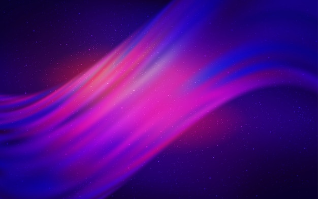 Modello vettoriale rosso con stelle del cielo notturno. Vettore Premium