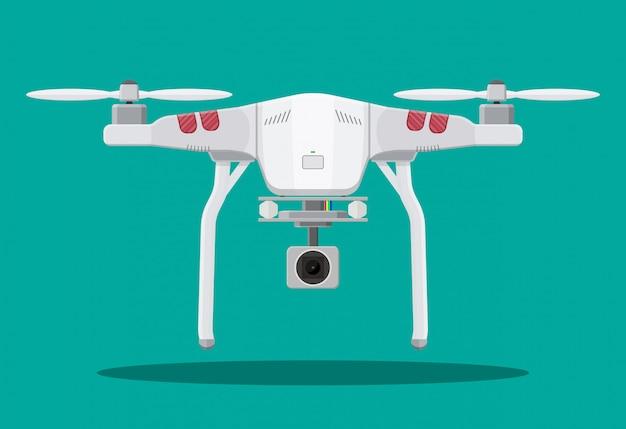 Drone aereo telecomandato. Vettore Premium