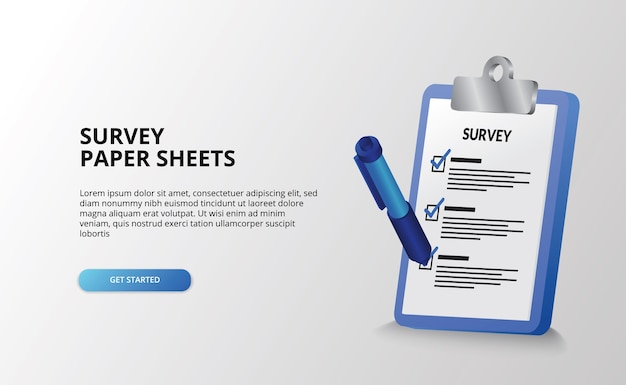 Rapporto del documento dell'esame del geometra degli appunti per fare la lista di controllo Vettore Premium