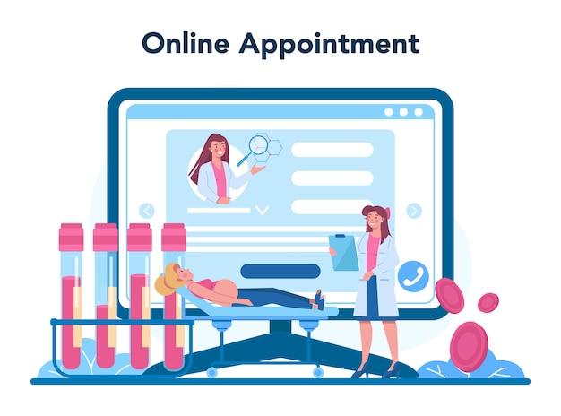 Piattaforma o servizio online di riproduttologo. Vettore Premium