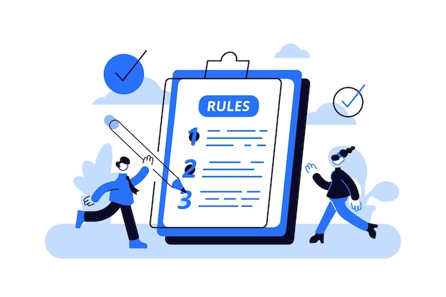 Scrittura grafica limitata con informazioni di legge. Vettore Premium