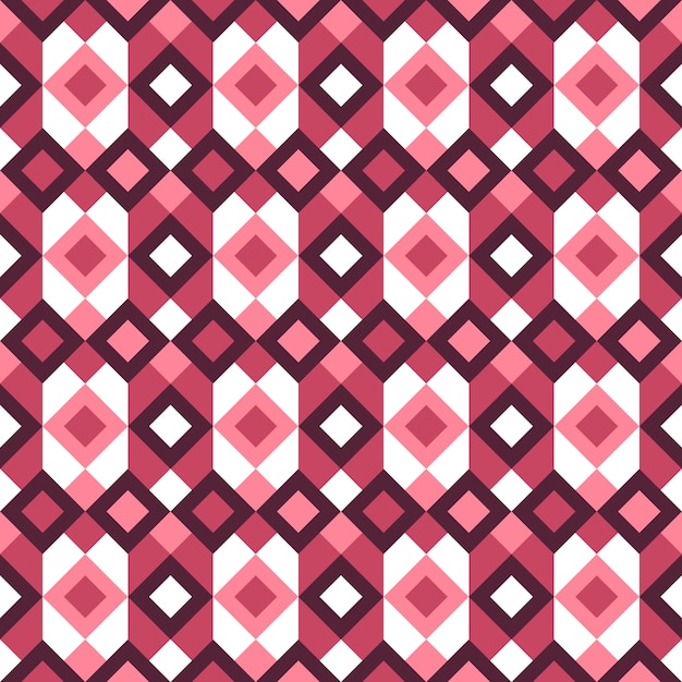 Modello senza cuciture colorato geometrico astratto di retro stile. Vettore Premium