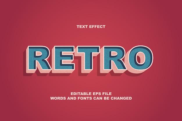 Effetto retro testo Vettore Premium