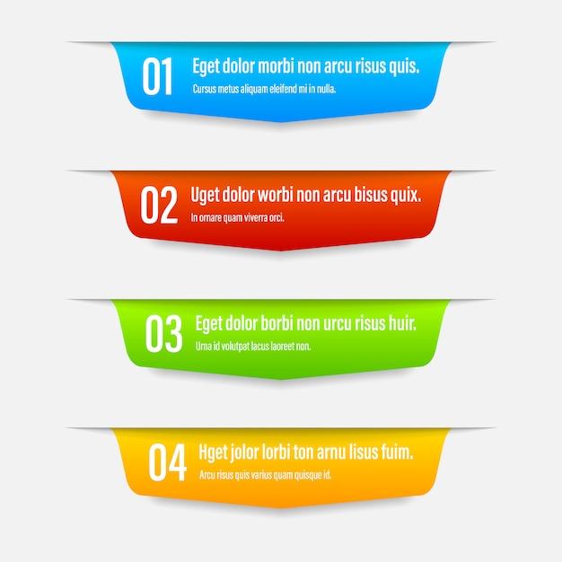 Bandiere di colore del nastro Vettore Premium