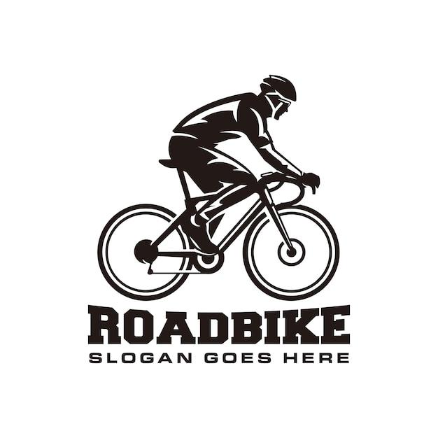 Modello di logo di bici da strada Vettore Premium
