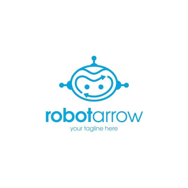 Modello di logo di frecce robot Vettore Premium