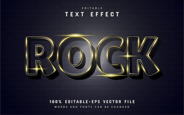 Effetto testo rock con scintillii dorati Vettore Premium
