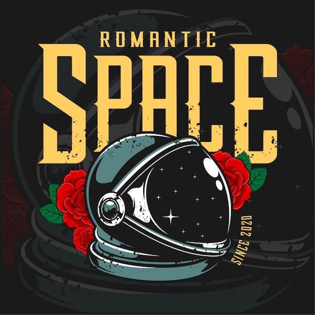 Spazio romantico Vettore Premium