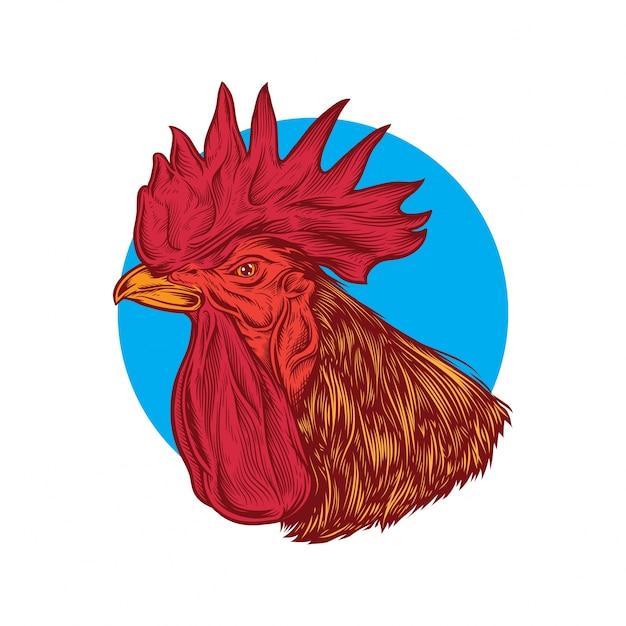 Testa del gallo Vettore Premium