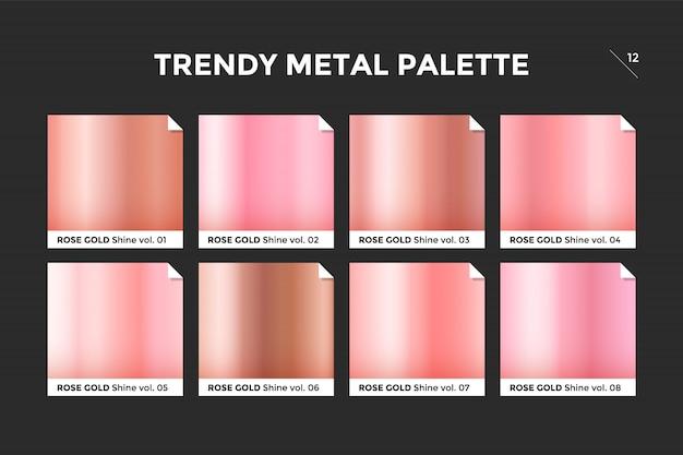 Modello sfumato oro rosa Vettore Premium