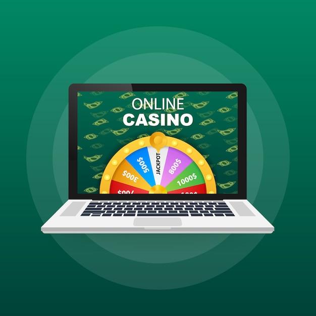 Roulette 3d fortune. ruota la fortuna per il gioco e vinci il jackpot. concetto di casinò online. marketing sui casinò su internet Vettore Premium