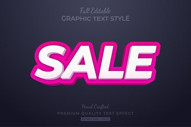 Vendita modificabile stile di testo personalizzato effetto premium Vettore Premium