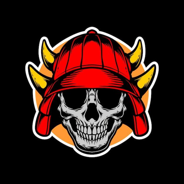 Design del logo samurai Vettore Premium