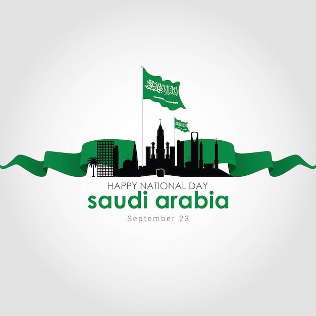 Festa nazionale dell'arabia saudita Vettore Premium