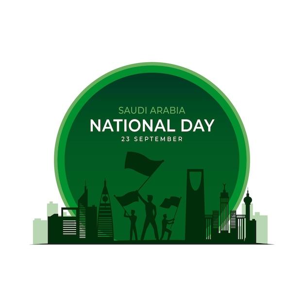 Festa nazionale saudita Vettore Premium