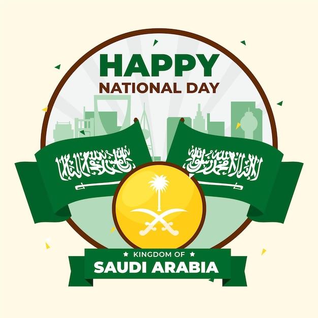 Giornata nazionale saudita Vettore Premium