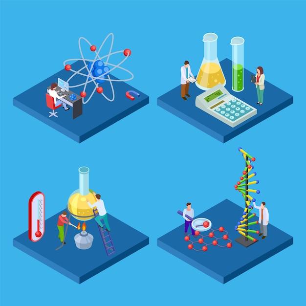 Laboratorio di chimica scientifica Vettore Premium