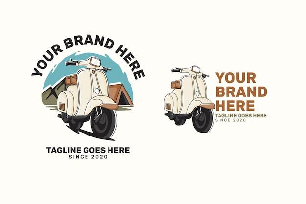 Logo di trasporto emblema scooter Vettore Premium